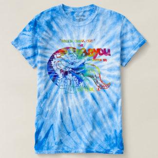 The Bayou - Vintage Design Tie Dye Blue Shirt