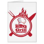 The BBQ Grill master Greeting Card