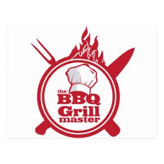 The BBQ Grill master Postcard