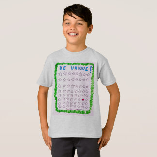 "The ""Be Unique"" T for boys, by Neil Myers T-Shirt"