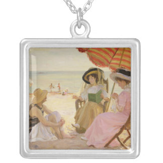 The Beach, 1929 Silver Plated Necklace