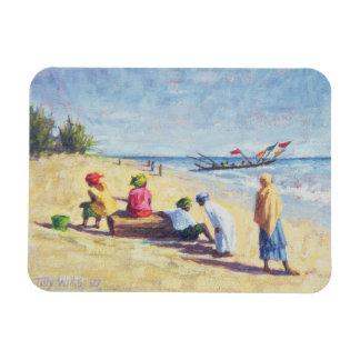 The Beach at Abene Senegal 1997 Magnet
