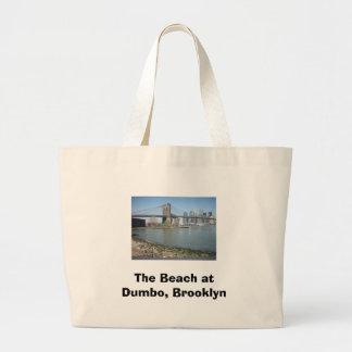 The Beach at Dumbo, Brooklyn Jumbo Tote Bag