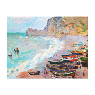 The Beach at Etretat Claude Monet Canvas Print