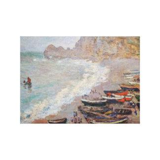 The Beach at Etretat - Claude Monet Canvas Print
