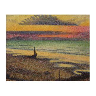 The Beach at Heist, 1891-92 Wood Wall Art