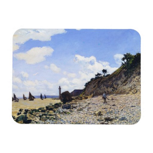 The Beach at Honfleur, 1865 Claude Monet Rectangle Magnets