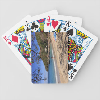 The beach at Pigeon Island National Park Bicycle Playing Cards