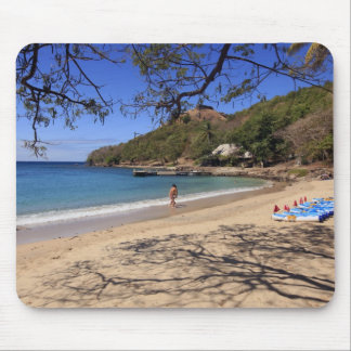 The beach at Pigeon Island National Park Mouse Mat