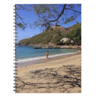 The beach at Pigeon Island National Park Spiral Notebook