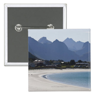 The beach at Ramberg is famous for its white 2 15 Cm Square Badge