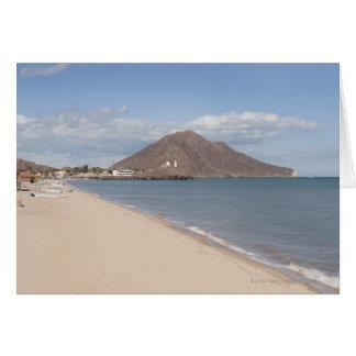 The beach at San Felipe on the Sea of Cortez Card