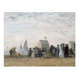 The Beach at Trouville, 1867 Postcard