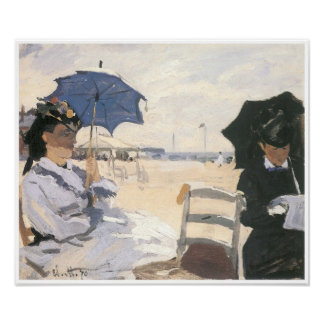 The Beach at Trouville, 1870 Claude Monet Poster