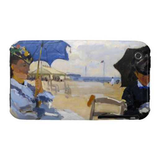 The Beach at Trouville Claude Monet iPhone 3 Case-Mate Cases
