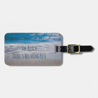 The Beach Blue Water Painted Photograph Luggage Tag