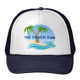 The Beach Bum Palm Trees Tropical Cap