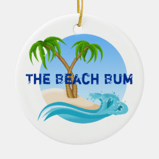 The Beach Bum Personalized Ornament