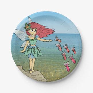 The Beach Fairy 7 Inch Paper Plate