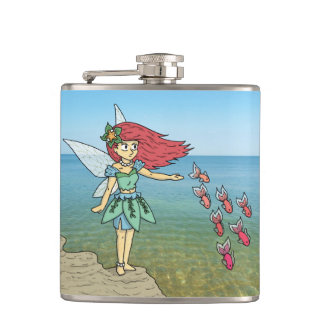 The Beach Fairy Hip Flask