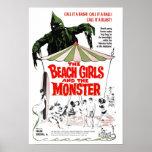 The Beach Girls & The Monster Poster