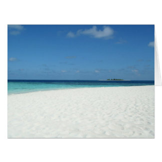 The Beach in Maldives Card