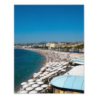 The beach in Nice, France - Photo Print