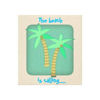 The beach is calling canvas print