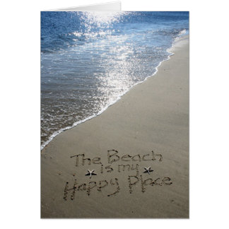 The Beach is my Happy Place Card
