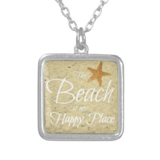 THE BEACH IS MY HAPPY PLACE NECKLACE
