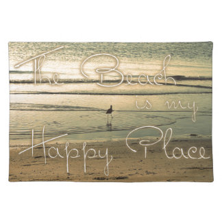 The Beach is My Happy Place Placemat