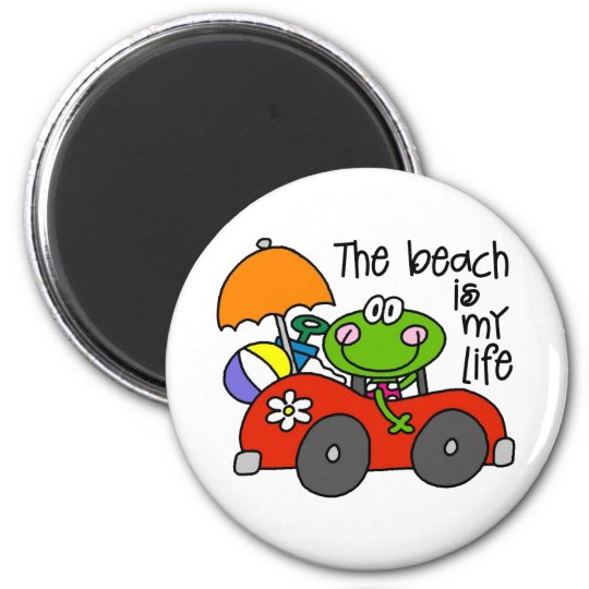 The Beach Is My Life 6 Cm Round Magnet
