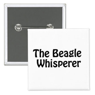 the beagle whisperer 15 cm square badge