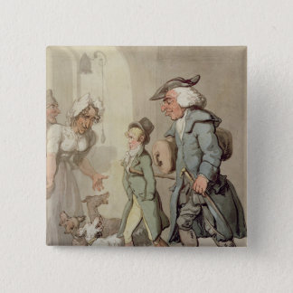 The Bear and Bear Leader 15 Cm Square Badge