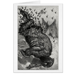 The bear and the behive greeting card
