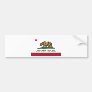 The Bear Flag - Flag of the State of California Bumper Sticker