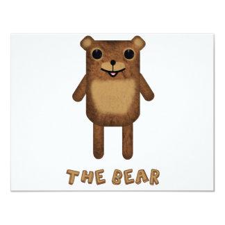 """The Bear from """"The Bear, The Cloud, And God"""" 11 Cm X 14 Cm Invitation Card"""
