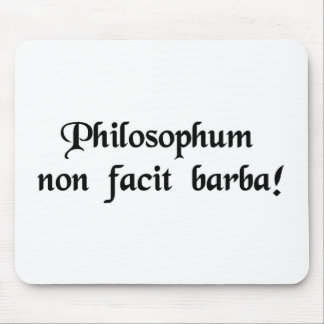 The beard does not define a philosopher. mouse pad