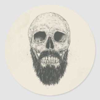 The beard is not dead classic round sticker