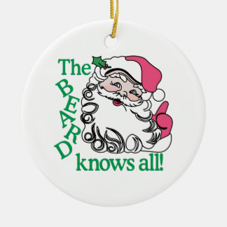 The Beard Knows All Christmas Ornament