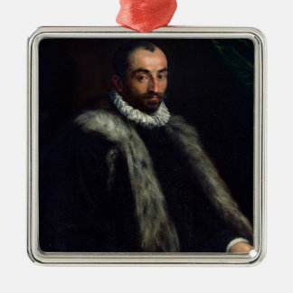 The Bearded Man, 1580 Silver-Colored Square Decoration