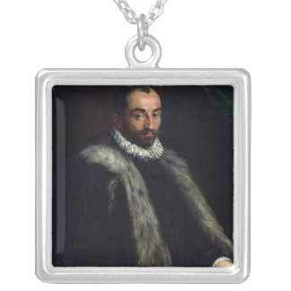 The Bearded Man, 1580 Silver Plated Necklace