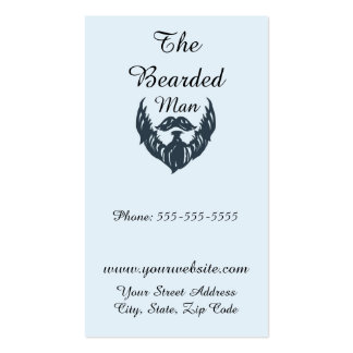 The Bearded Man Barber Shop Pack Of Standard Business Cards