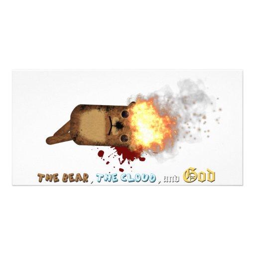 The Bear's head on fire Photo Card