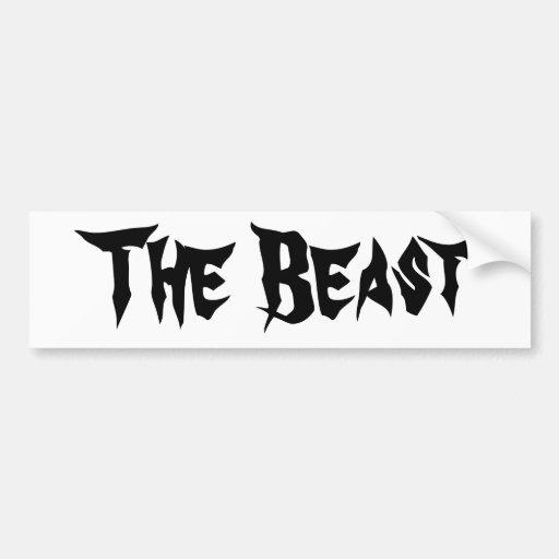 The Beast Bumper Stickers