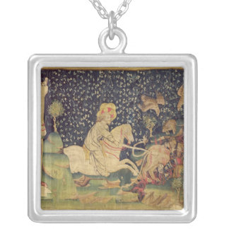 The Beast is Thrown into the Lake of Sulphur Silver Plated Necklace