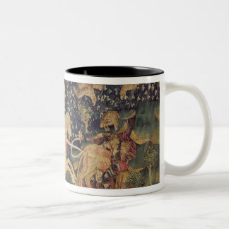 The Beast is Thrown into the Lake of Sulphur Two-Tone Coffee Mug