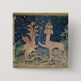 The Beast of the Sea with Seven Heads 15 Cm Square Badge