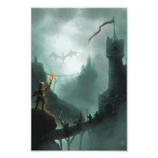 the beast returns fantasy art photo print