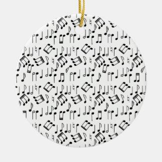 The Beat Goes On Round Ceramic Decoration